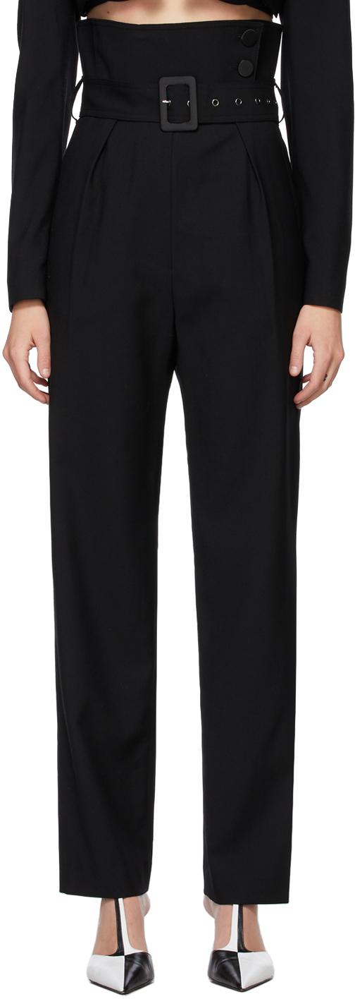 Black Wool Emma Trousers