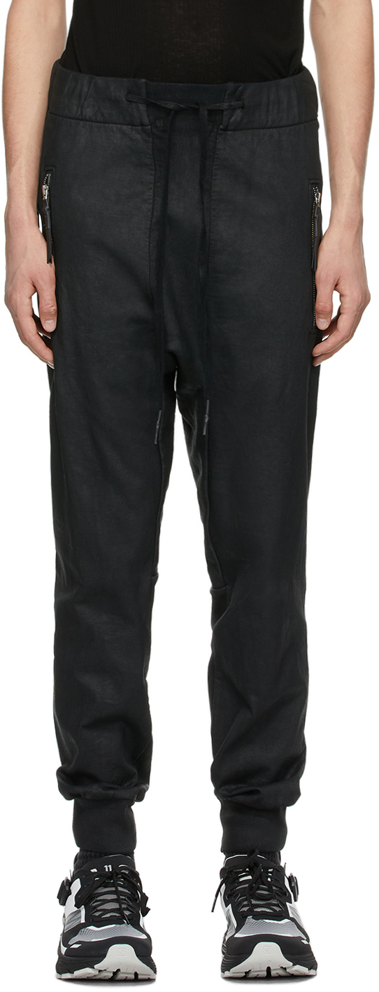 11 by Boris Bidjan Saberi Black Coated P13 Lounge Pants 211610M190049