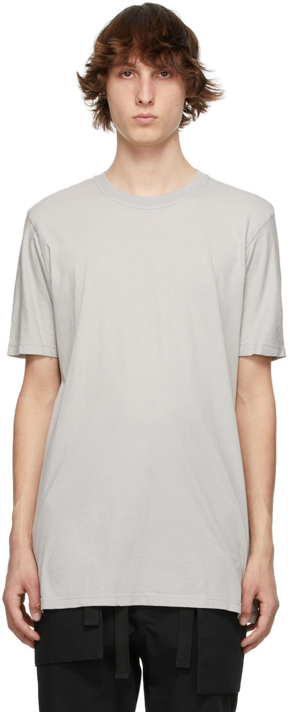 11 by Boris Bidjan Saberi Grey Basic T Shirt 211610M213052