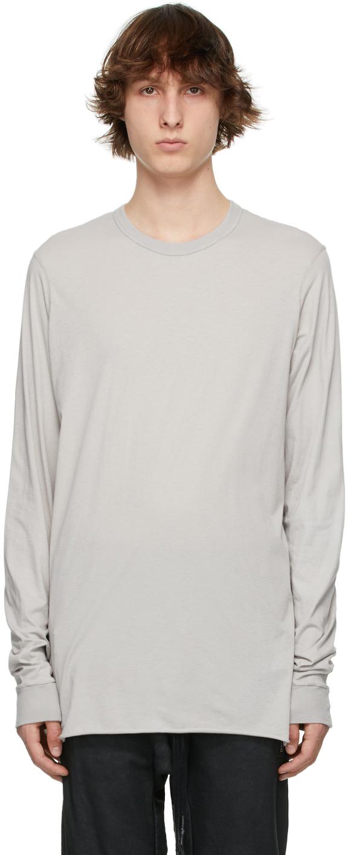 11 by Boris Bidjan Saberi Grey Drawstring Long Sleeve T Shirt 211610M213053