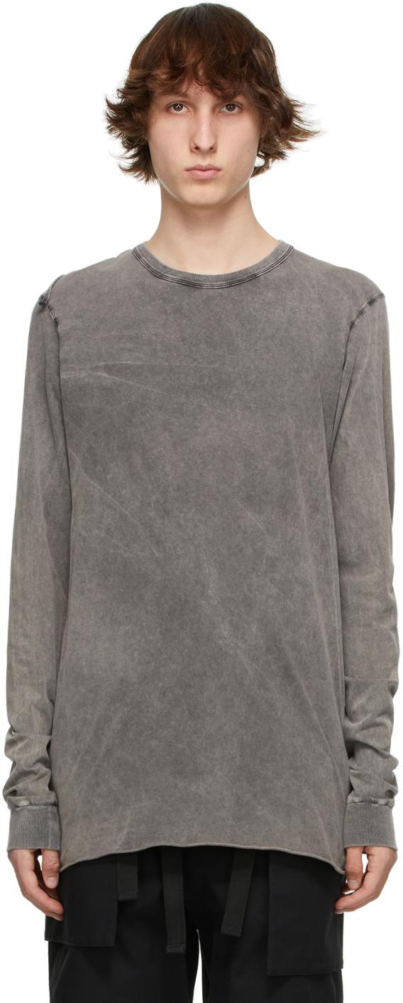 11 by Boris Bidjan Saberi Grey Acid LS1B Long Sleeve T Shirt 211610M213054
