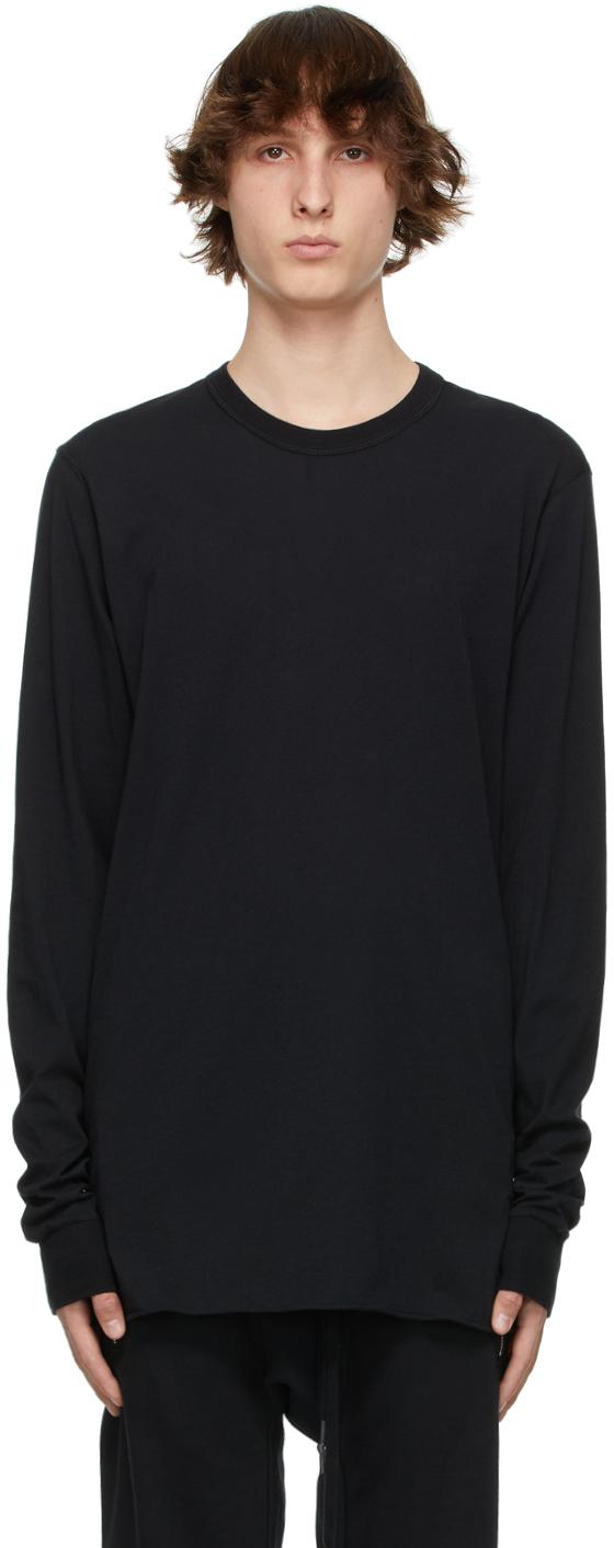 11 by Boris Bidjan Saberi Black Drawstring Long Sleeve T Shirt 211610M213055
