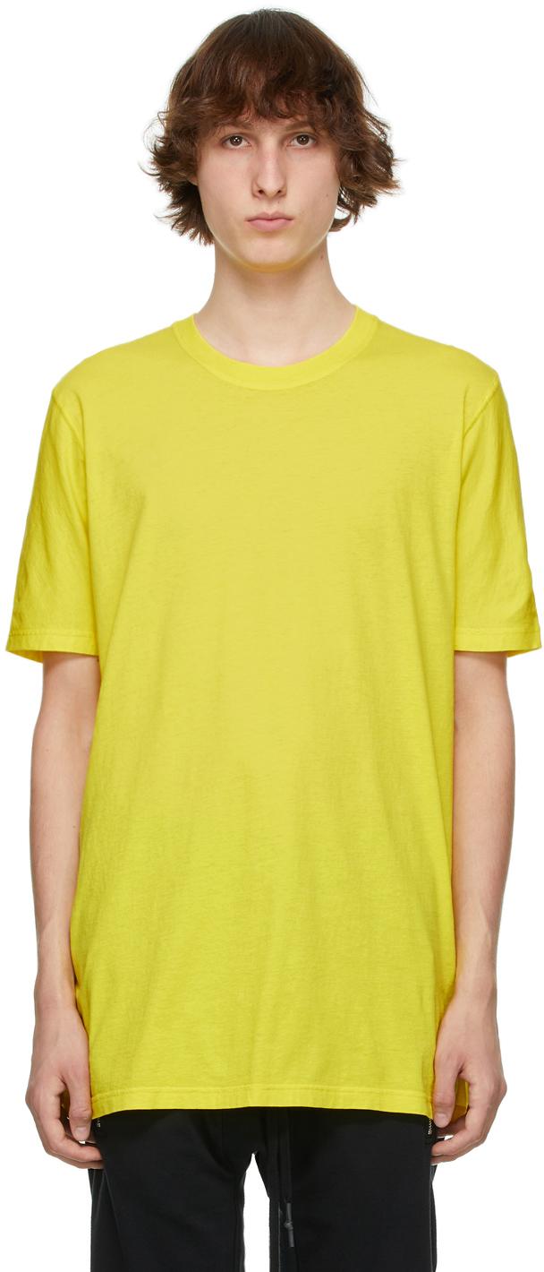 11 by Boris Bidjan Saberi Yellow Basic T Shirt 211610M213056