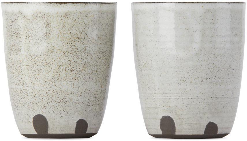 SSENSE Exclusive Black & White Fingerprint Cup Set