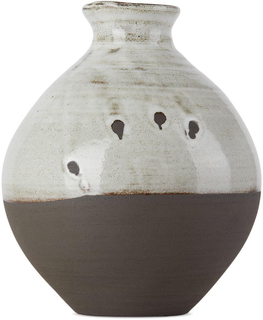 SSENSE Exclusive Black & White Tsubo Vase