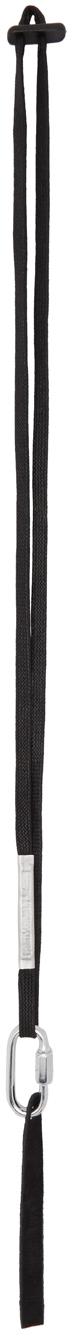Black Waxed Cotton Keychain
