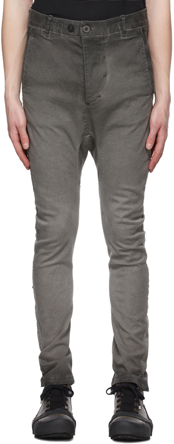 Grey Double Object-Dyed Jeans