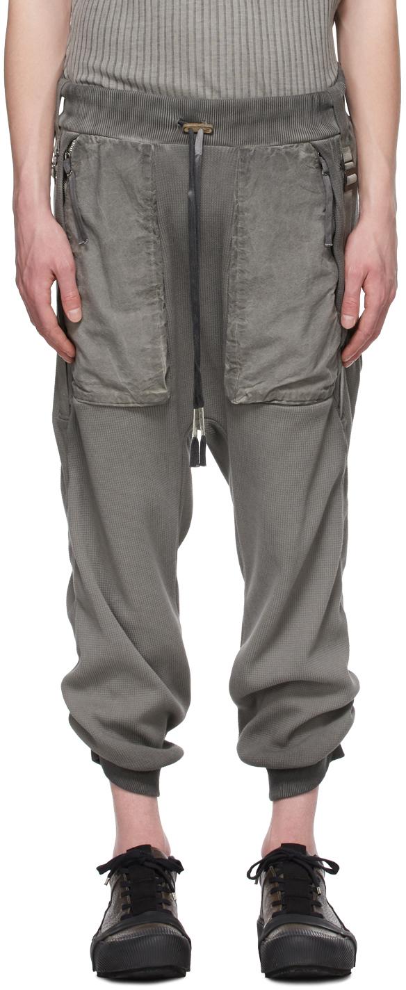 Grey Resin-Dyed Long John Lounge Pants
