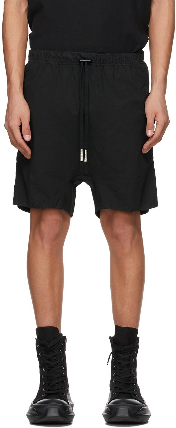 Black Double Object-Dyed Shorts