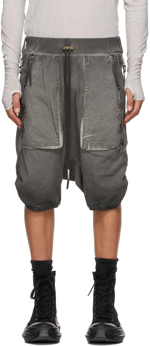 Grey Resin-Dyed Shorts