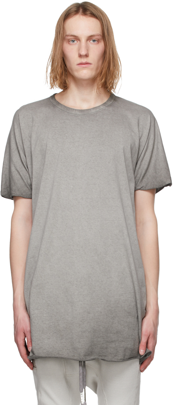 Grey Resin-Dyed One Piece T-Shirt