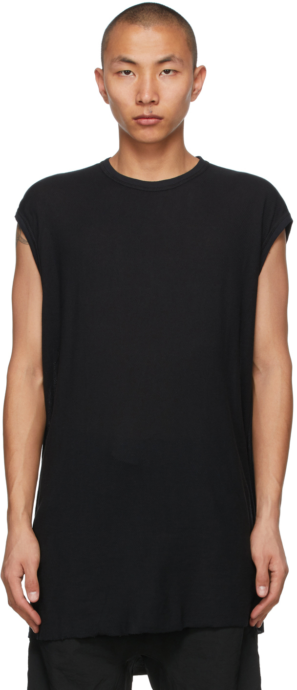 Black Object-Dyed One Piece Tank Top