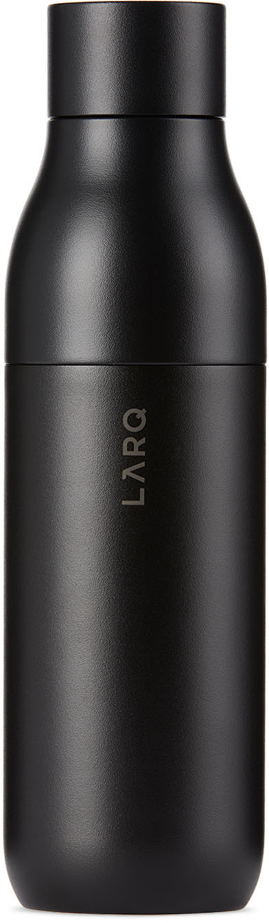 Black Insulated Self-Cleaning Bottle