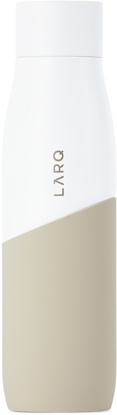 White & Taupe Movement Self-Cleaning Bottle