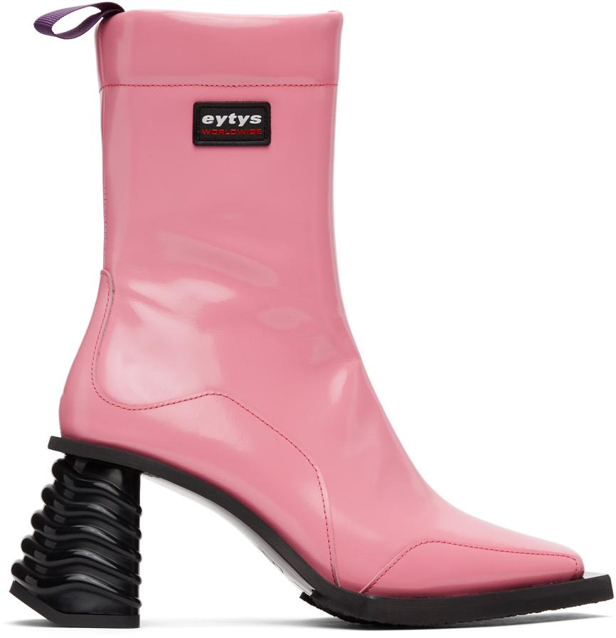 Eytys 粉色 Gaia 皮革踝靴