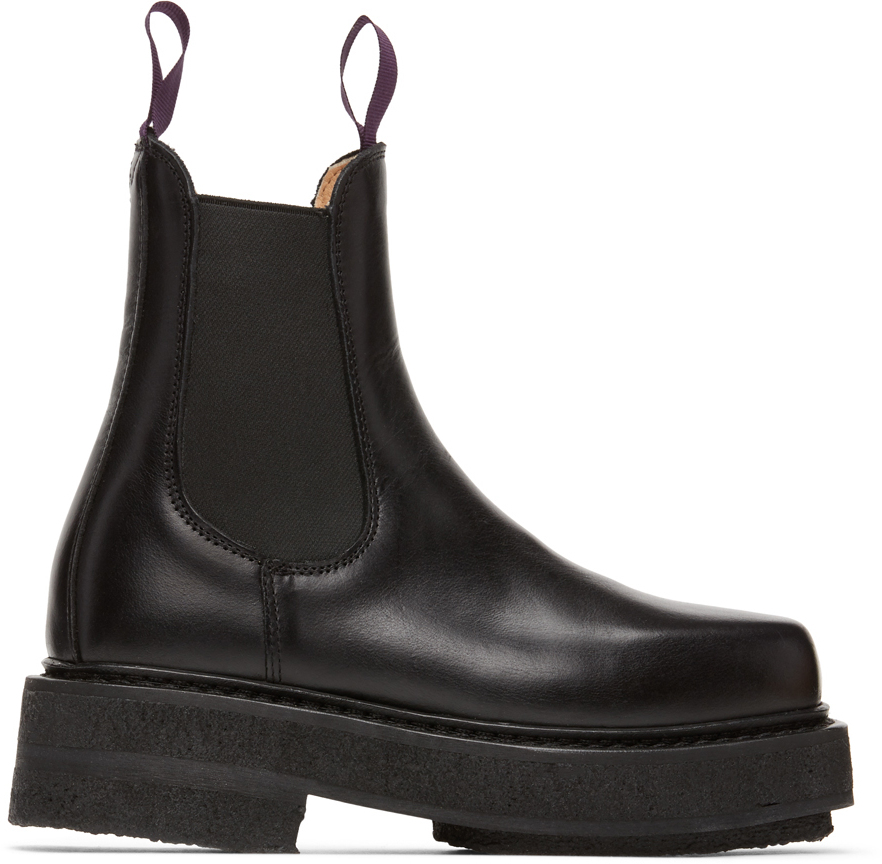 Black Ortega Chelsea Boots