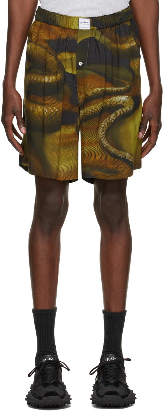 Green & Brown Aniara Shorts