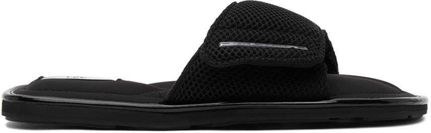 Black Mesh Bellagio Sandals
