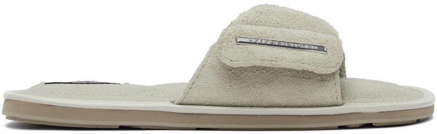 Grey Suede Bellagio Sandals
