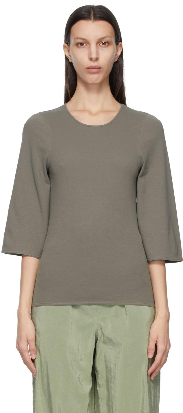 Lemaire 灰色七分袖 T 恤