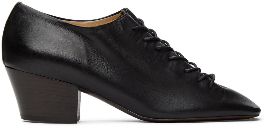 Lemaire 黑色中跟德比鞋