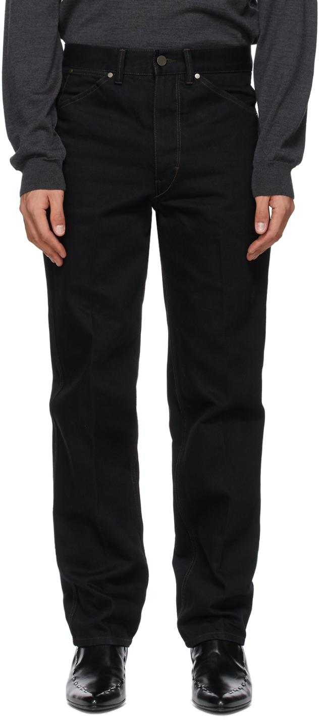 Lemaire 黑色直筒牛仔裤