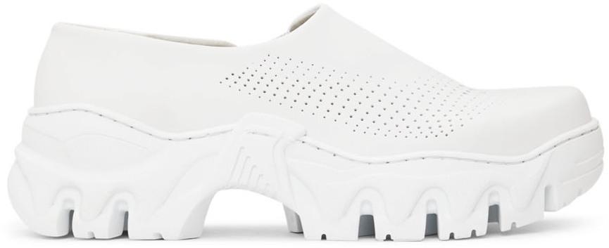 White Boccaccio II Future Leather Clogs