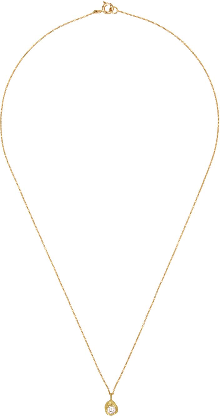 Gold Solitaire VVS Diamond Iman Necklace
