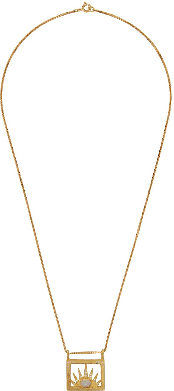 Gold Diamond Small Worlds Bespoke Miami Necklace