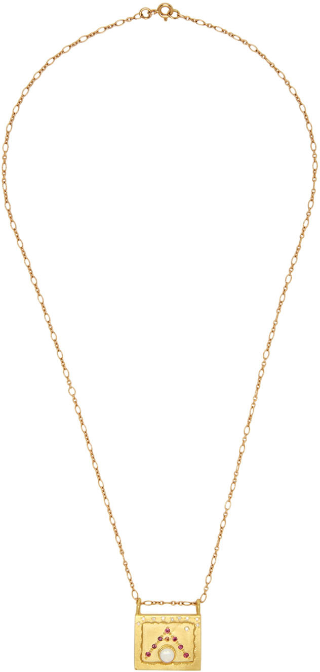 Gold Small Worlds Alhambra Necklace