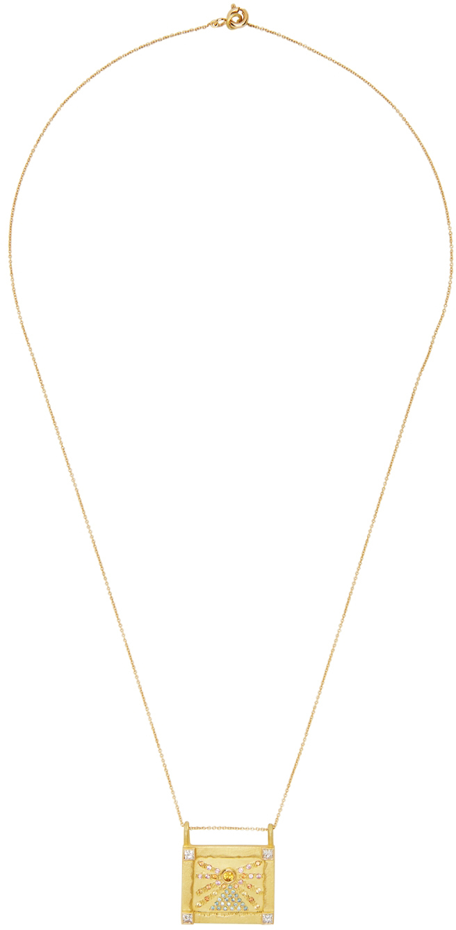 SSENSE Exclusive Gold Small Worlds Sunset Necklace