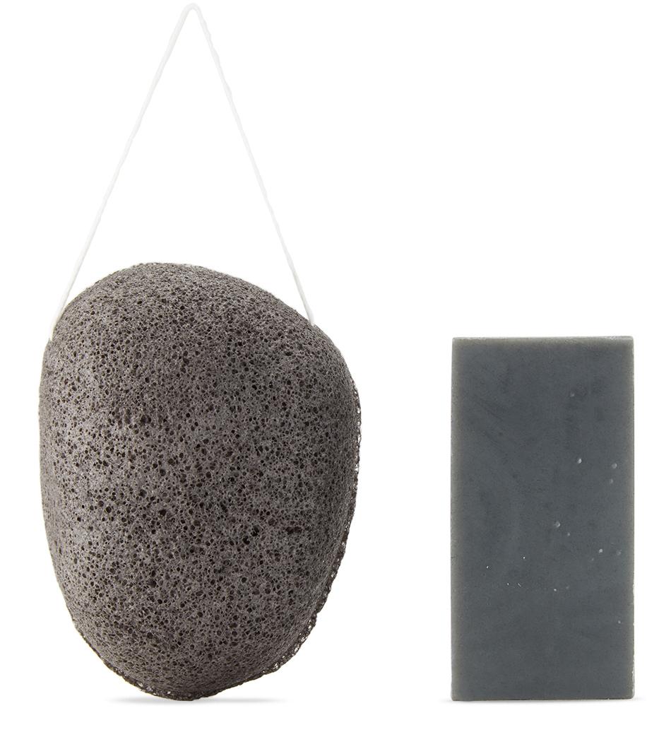 SSENSE Exclusive Shaman Charcoal Soap & Konjac Sponge