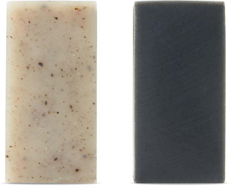 Shaman Charcoal & Seshin Korean Scrub Soap Set