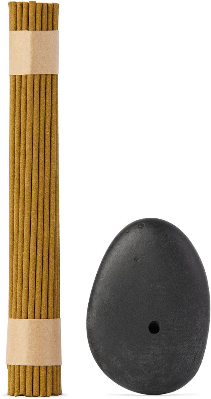Stone Incense Burner & Hydrangea Tea Incense Set