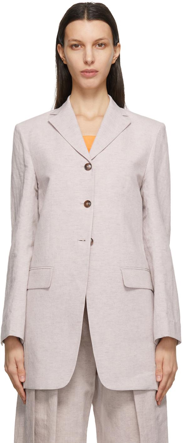 Pink Linen Classic Blazer
