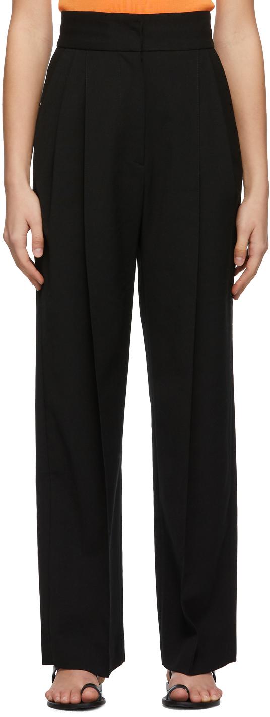 Black Pintuck Trousers