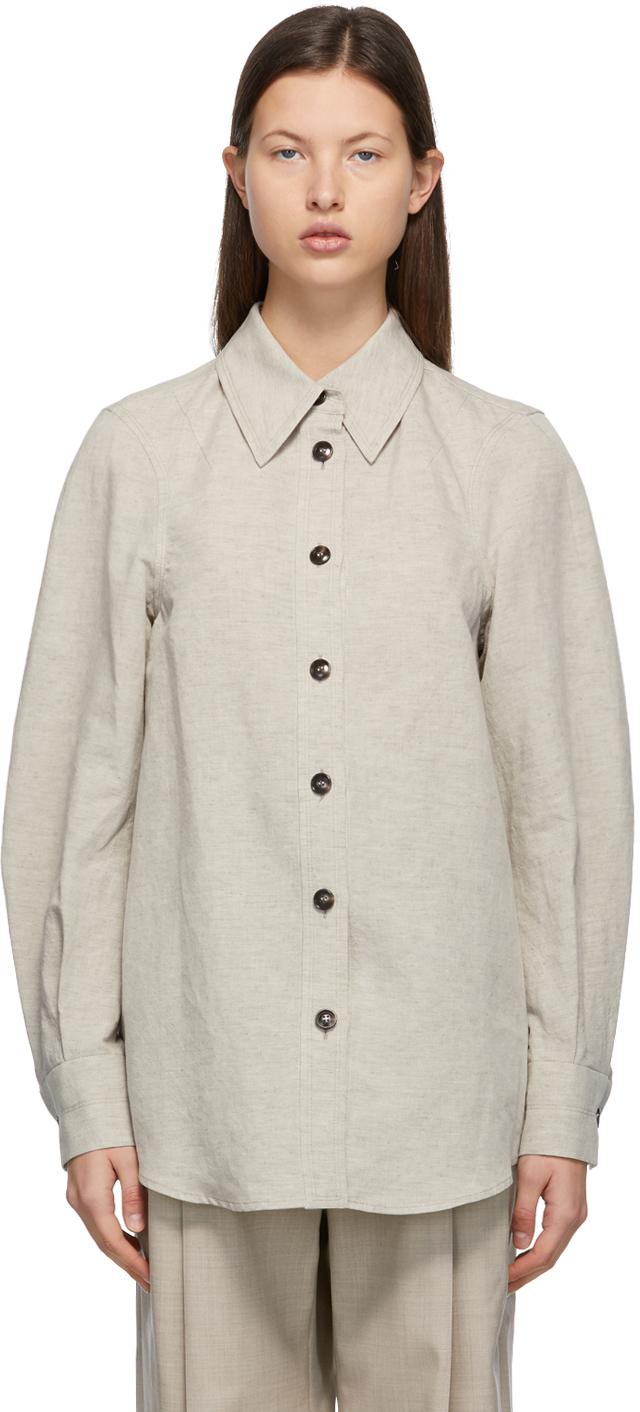 Taupe Linen & Cotton Shirt