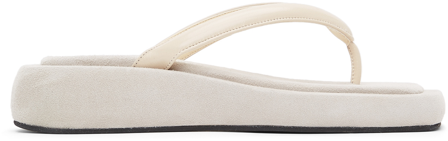 Off-White Platform Flip Flop Sandals