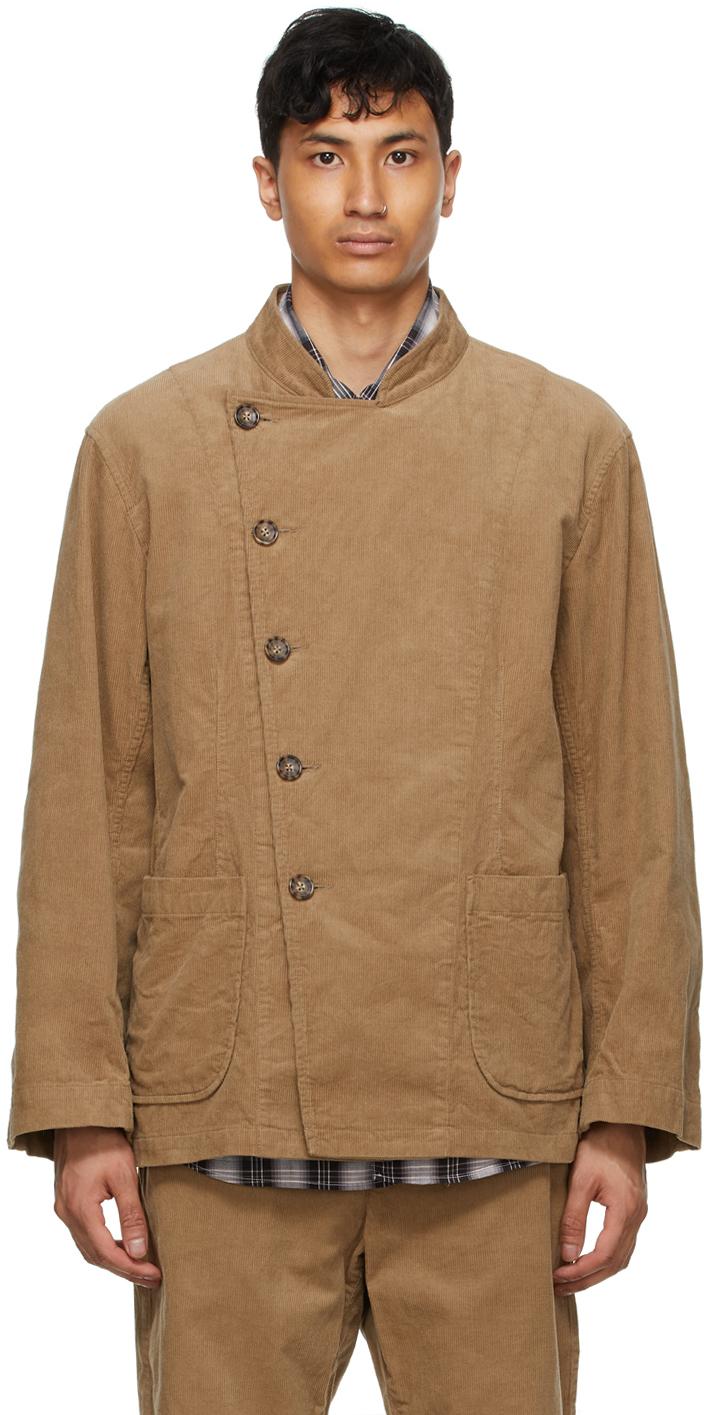 AïE Khaki Corduroy Double Breasted Jacket 211668M180022