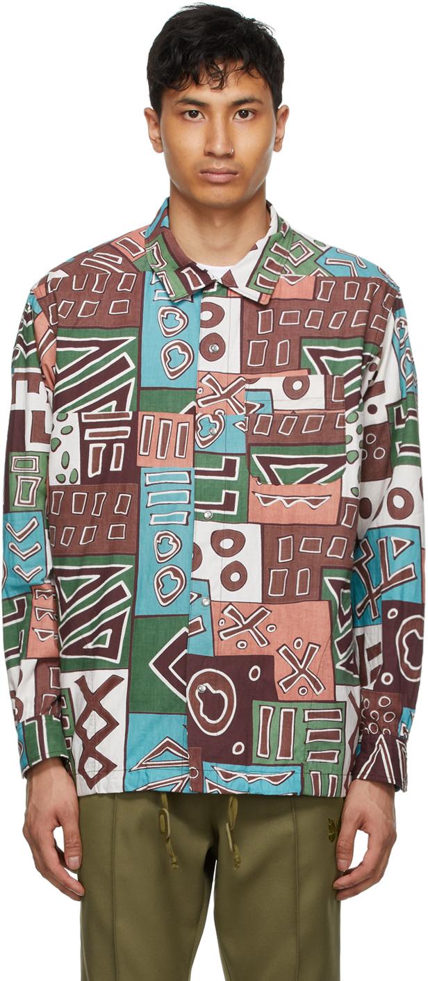 AïE Multicolor Art Block Coach Shirt Jacket 211668M180025