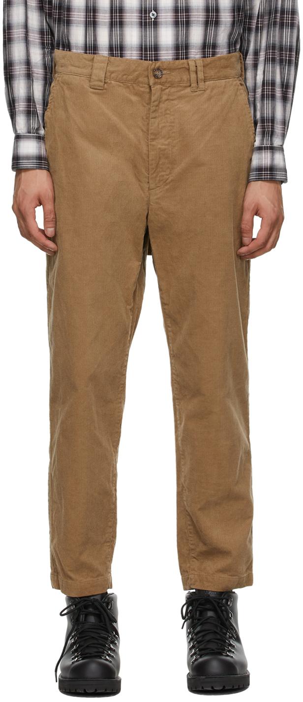 AïE Khaki Corduroy BNG Trousers 211668M191008