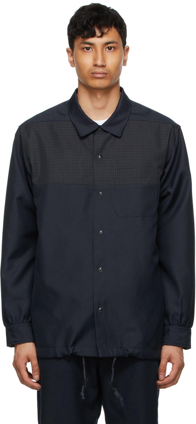 AïE Navy Twill Coach Shirt 211668M192016