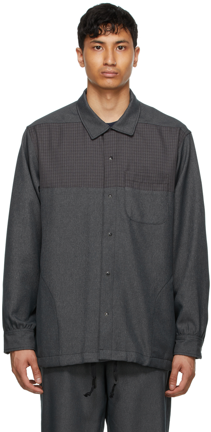 AïE Grey Twill Coach Shirt 211668M192017