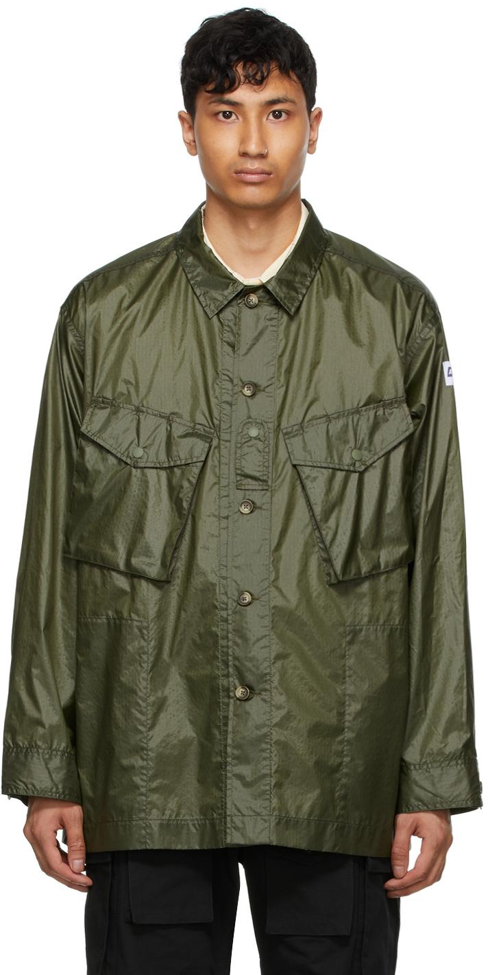 AïE Green Ripstop Shirt Jacket 211668M192018