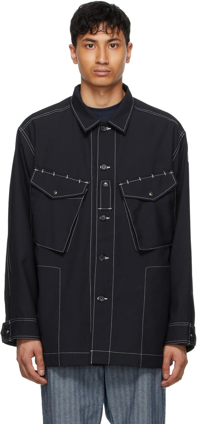 AïE Navy Canvas Shirt Jacket 211668M192019
