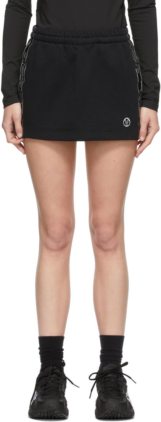 VETEMENTS 黑色徽标短裙