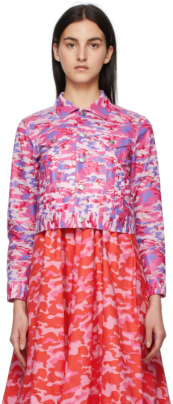 Comme des Garçons Girl Pink & Blue Camo Jacket
