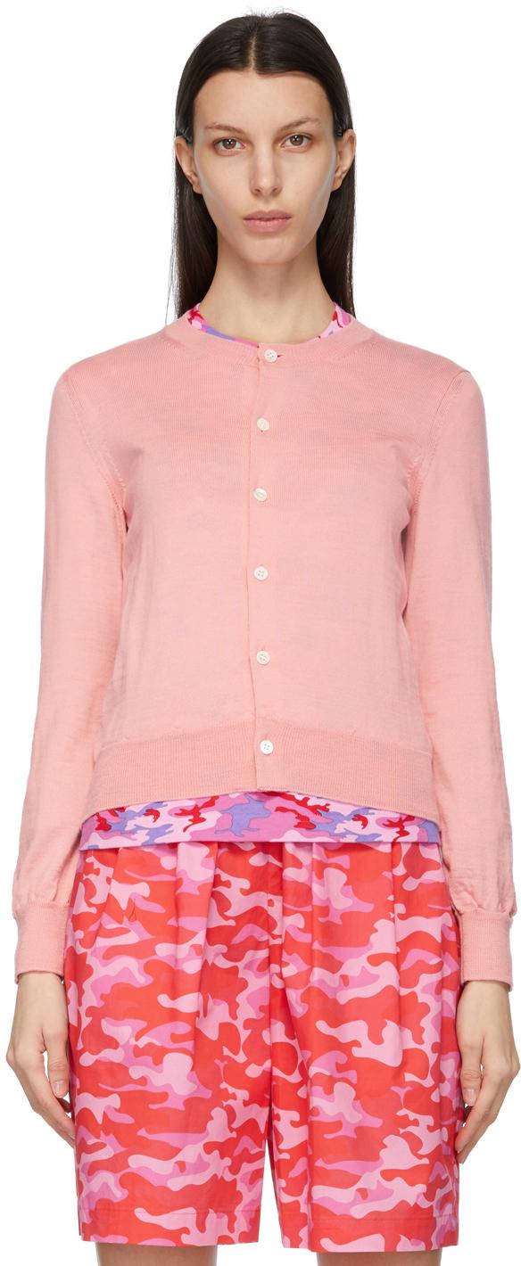 Comme des Garçons Girl Pink Wool Cardigan