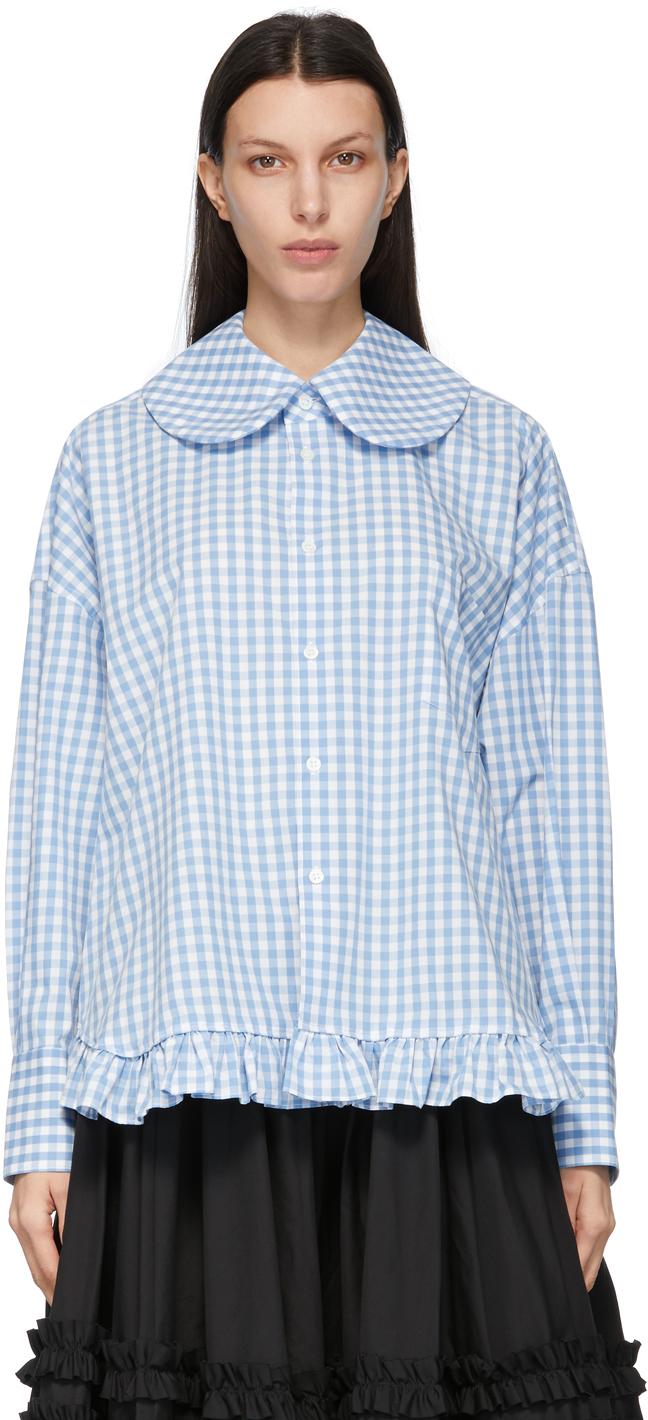 Comme des Garçons Girl Blue Round Collar Shirt