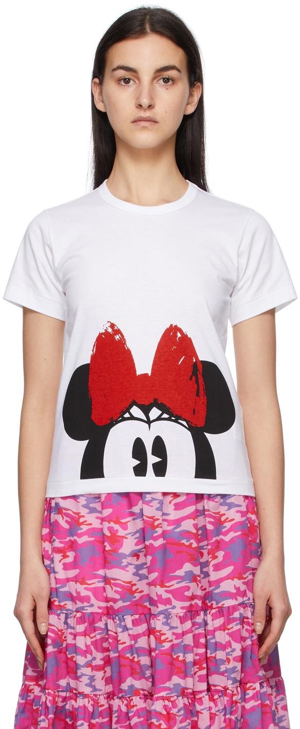 Comme des Garçons Girl White Disney Edition Minnie Mouse Eyes T-Shirt